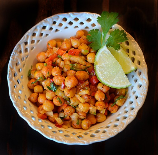 Roasted Chickpea (Garbanzo Bean) Salad