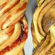 Twisty Strawberry Jam Bread