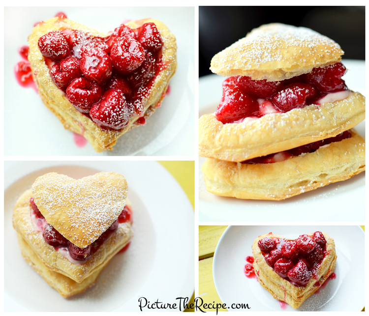 raspberry napoleon valentines day dessert by picturetherecipecom - Valentines Day Sweets