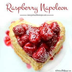 Valentine's Day- Raspberry Napoleon by PictureTheRecipe.com
