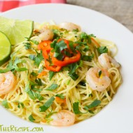 Angel Hair Pasta With Shrimp, Red Chili & Lime