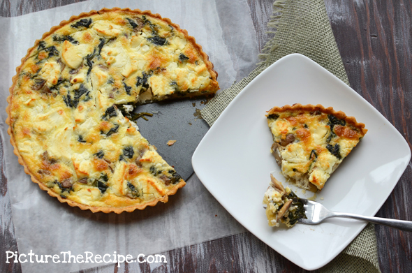 Spinach, Mushroom and Goat Cheese Quiche Picture the Recipe