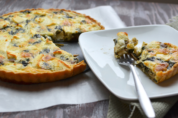 Spinach, Mushroom & Goat Cheese Quiche