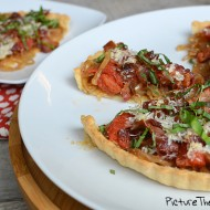 Caramelized Onion, Bacon & Tomato Tart