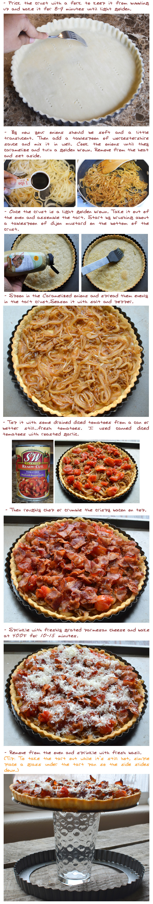 Caramelized Onion, Bacon and Tomato Tart | Picture the Recipe