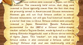 Fortune Cookies Were Invented In Japan