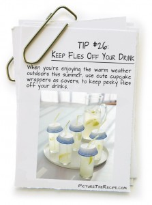 Picture The Recipe Tips Keep Flies Off Your Drink