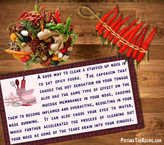 Spicy Foods to Clear a Stuffed Up Nose