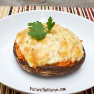 Mexican Rice Stuffed Portobello Mushrooms
