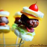 Game Day Snacks: Mini Bacon Burger Bites