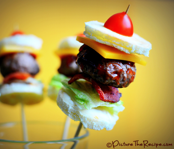 Mini Bacon Burger Bites