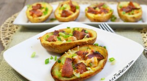Ranch Chicken Stuffed Potato Skins