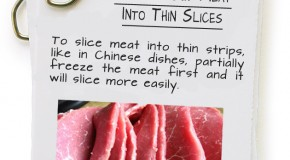 How To Cut Meat Into Thin Slices