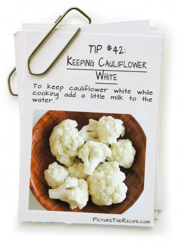 Keeping Cauliflower White