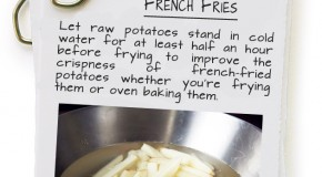 Trick To Making Crisp French Fries