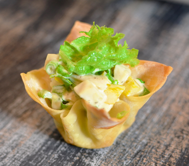 Chicken Salad Wanton Cups