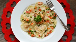 Valentine's Special: Heart Shaped Shrimp Ravioli