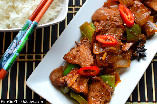 Chili Pork with Peppers