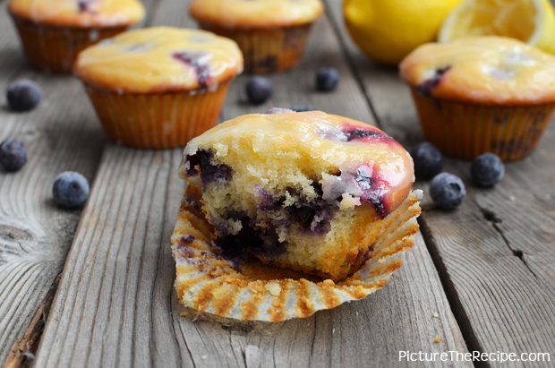 PTR- Lemon Glazed Blueberry Yogurt Muffins