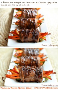 Balsamic Glazed Steak Rolls by PictureTheRecipe