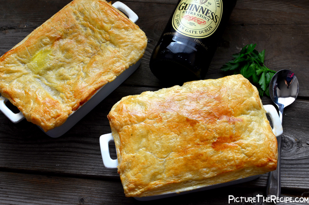 Guinness Beef Pot Pie Overhead