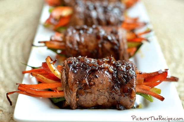 Balsamic Glazed Steak Rolls | Picture the Recipe