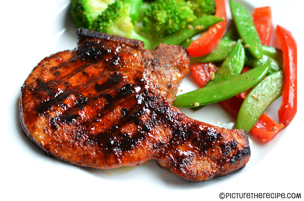Sticky Sweet and Spicy Pork Chops