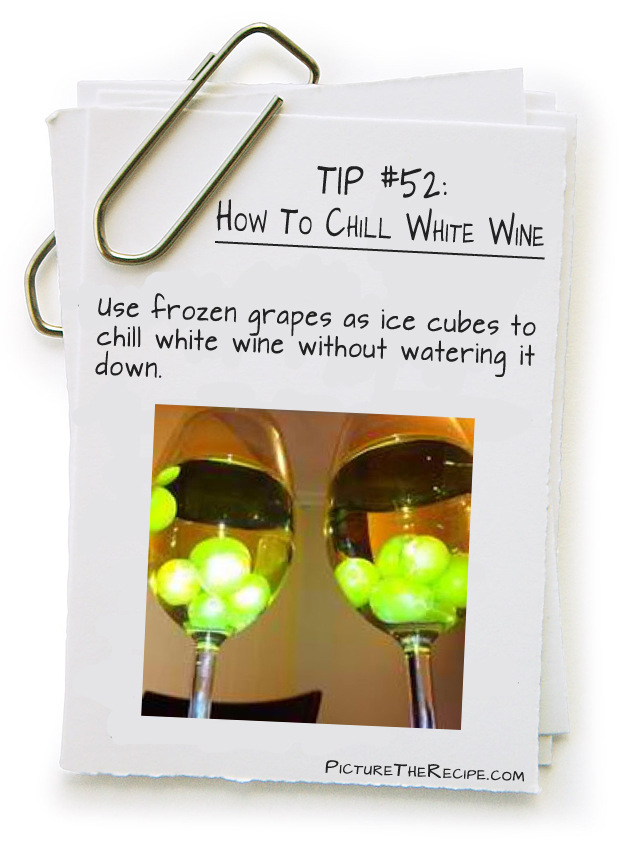 Picture The Recipe Tips - How To Chill White wine