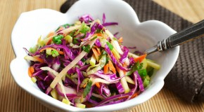 Apple &#8216;n Cabbage Slaw With A Light Cider Vinaigrette