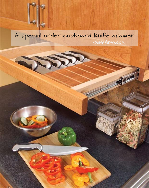 Genius Ideas- knife drawer