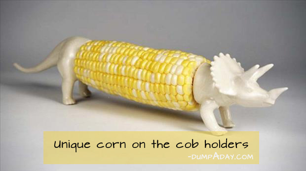 Genius Kicthen Ideas- corn on the cob holders