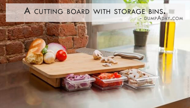 Genius Kicthen Ideas Cutting Board With Storage Bins