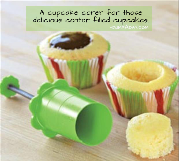 Genius Kitchen Ideas- Cupcake corer