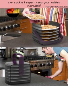 Genius Kitchen Ideas- cookie keeper  keep your edibles incredible