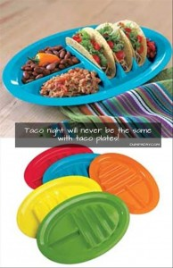 taco holder plate
