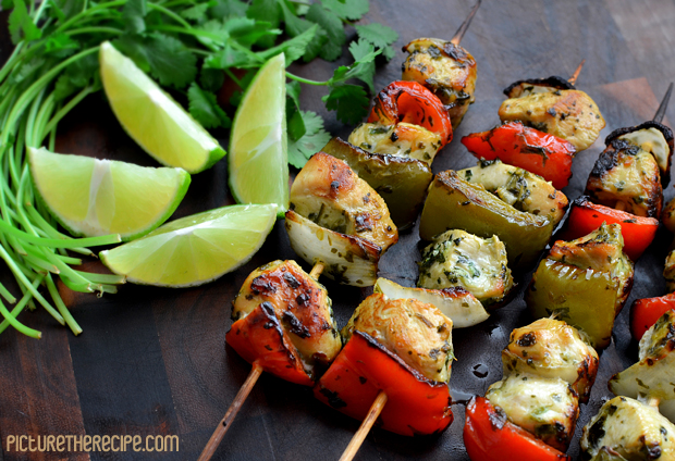 Cilantro Lime Marinated Chicken Skewers PTR