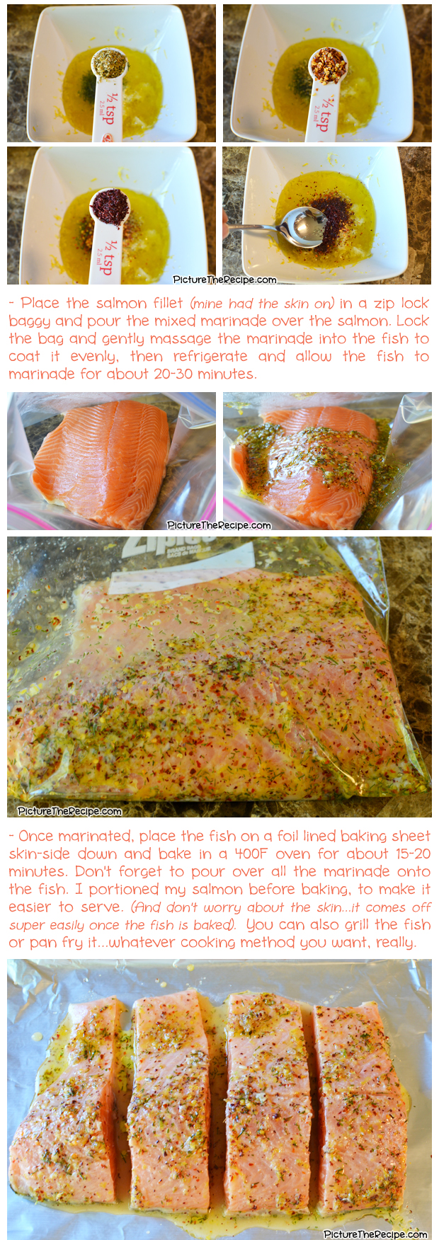 Greek Marinated Salmon Recipe- Part 2