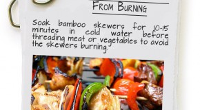Keep Bamboo Skewers From Burning