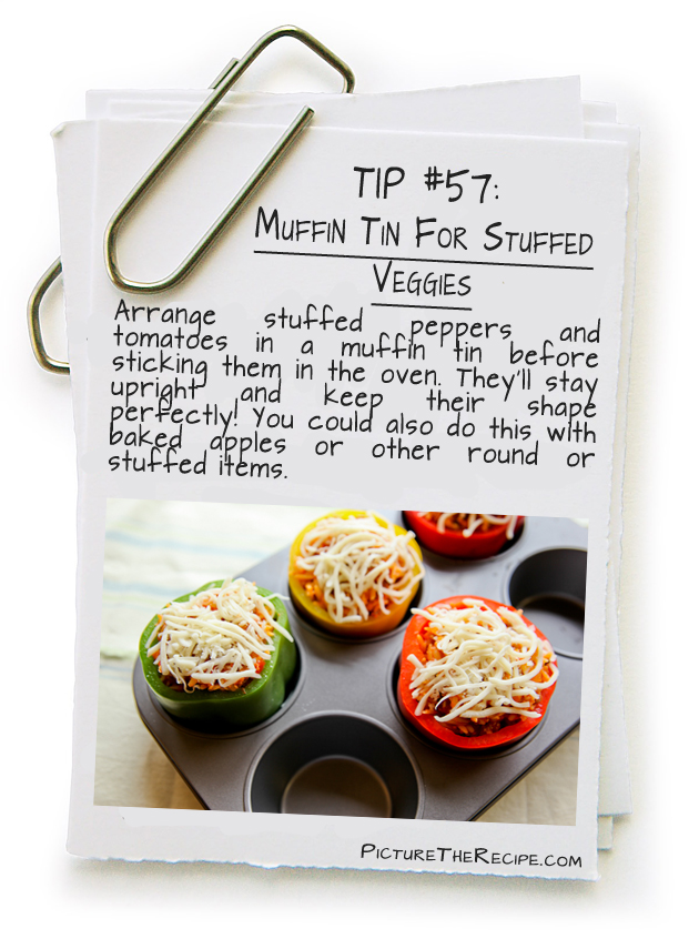Picture The Recipe Tips - Muffin tin for stuffed veggies