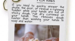 Remove Dough Quickly From Hands