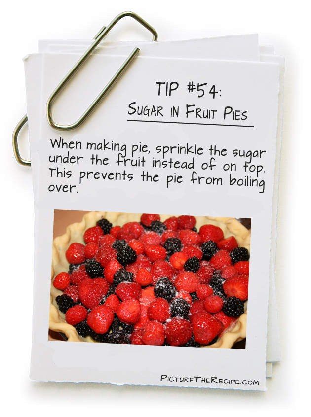 Picture The Recipe Tips - Sugar in fruit Pies