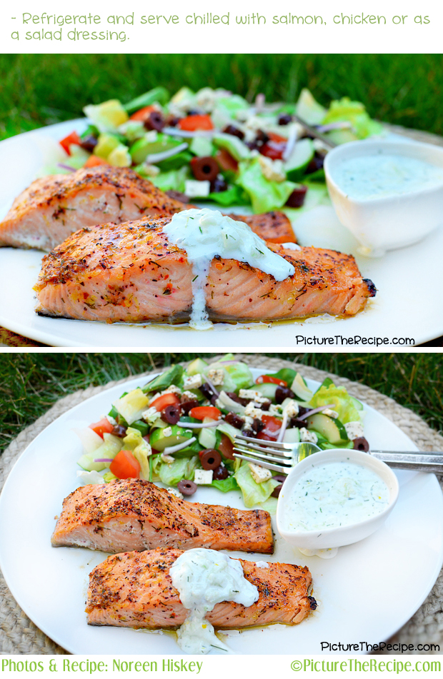 Salmon withTzatziki Sauce by Picture The Recipe
