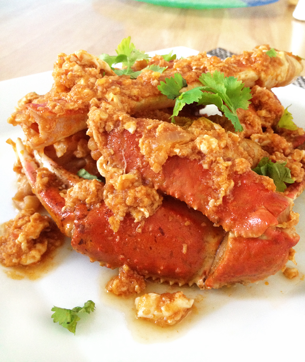 Singapore Chili Crab Close-up