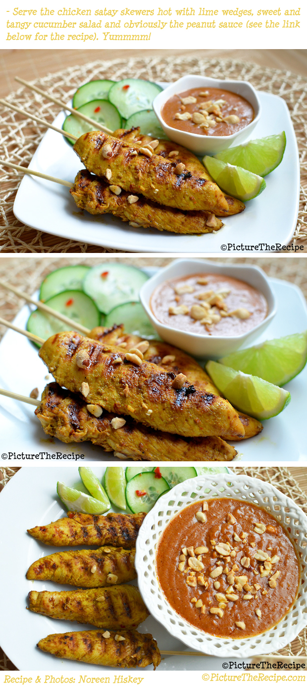 Chicken Satay Recipe by PictureTheRecipe