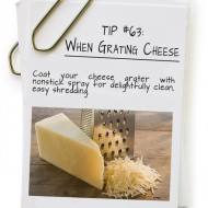 When Grating Cheese