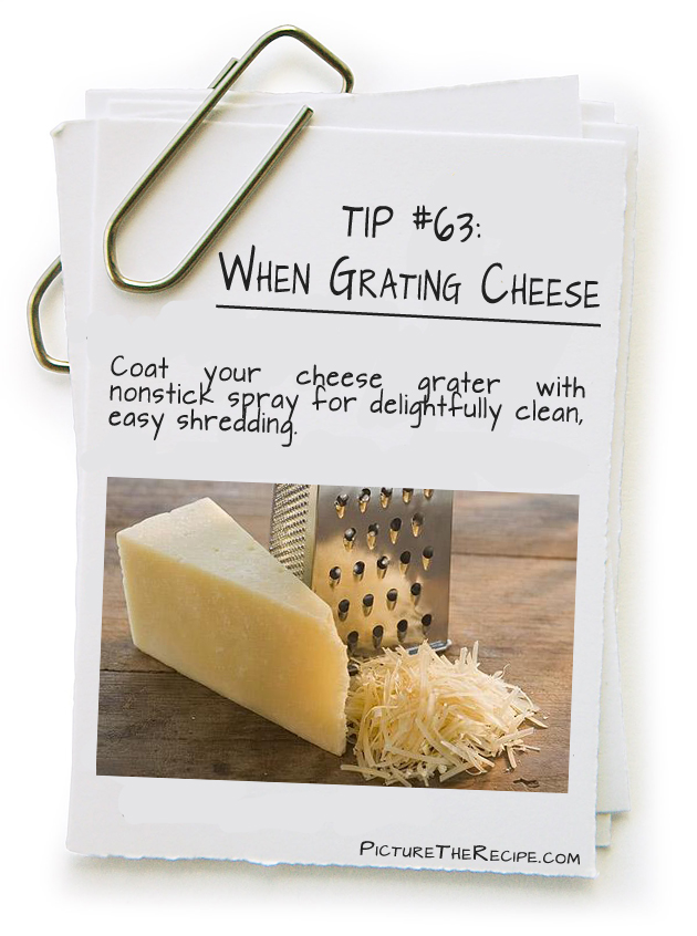 Picture The Recipe Tips - Grating Cheese