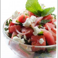 Watermelon-Salad-with-mint-and-feta-cheese
