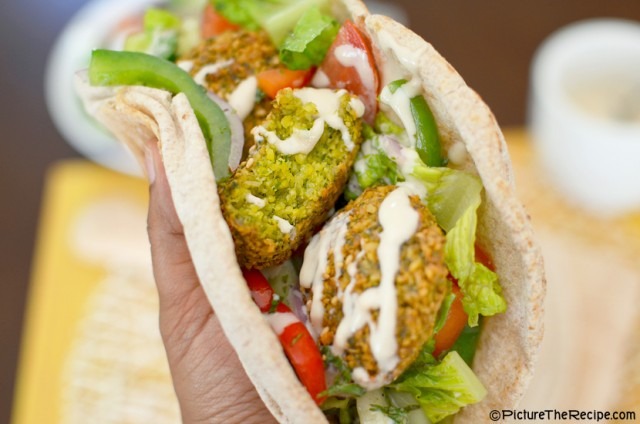 Falafel Pita Wrap by PictureTheRecipe