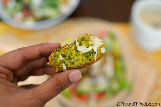 Falafel up close by PictureTheRecipe
