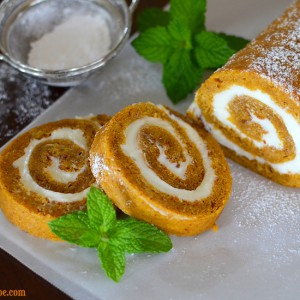 Pumpkin Spice Cake Roll by PictureTheRecipe